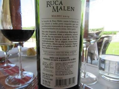 Ruca Malen, Malbec 2013, Uco Valley, Mendoza, Argentina, Wine Casual