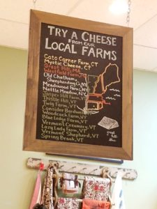 A sampling of cheeses available at Fairfield Cheese
