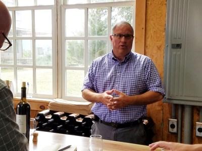 Larry Shrawder, proprietor of Stony Run Winery.