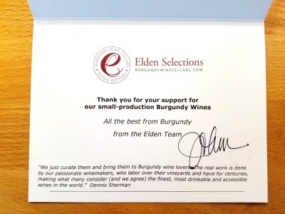 Yes, A Burgundy-Only Wine Portal Does Exist:  My Review of Elden Selections, Wine Casual