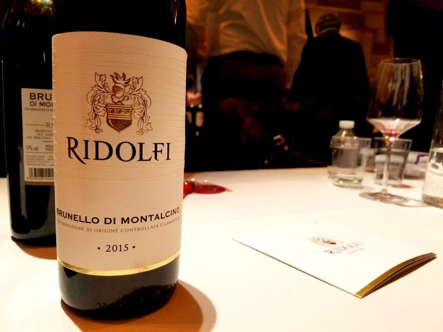 Ridolfi Brunello di Montalcino 2015, Benvenuto Brunello 2020 New York City, Wine Casual