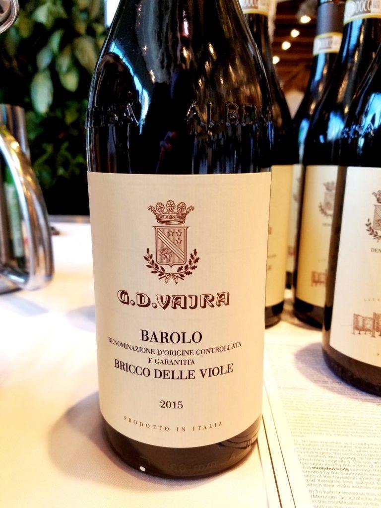 G.D. Vajra Barolo Bricco Delle Viole 2015 Piedmont Italy, Slow Wine New York Winetasting, Wine Casual
