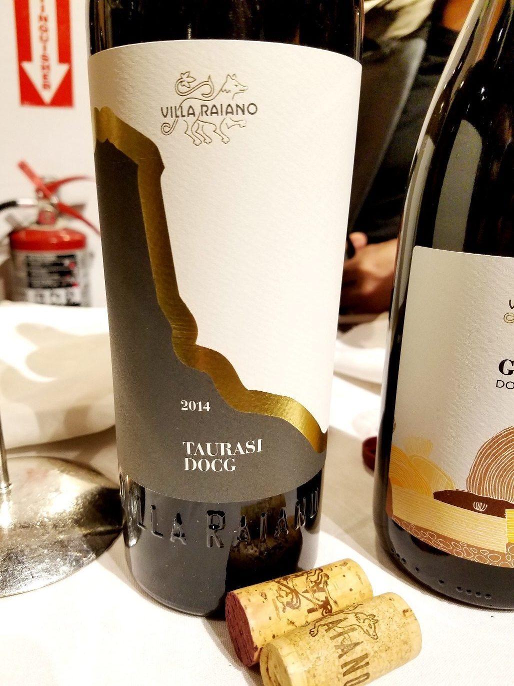 Villa Raiano Taurasi DOCG 2014, James Suckling Great Wines of Italy New York 2020, Wine Casual