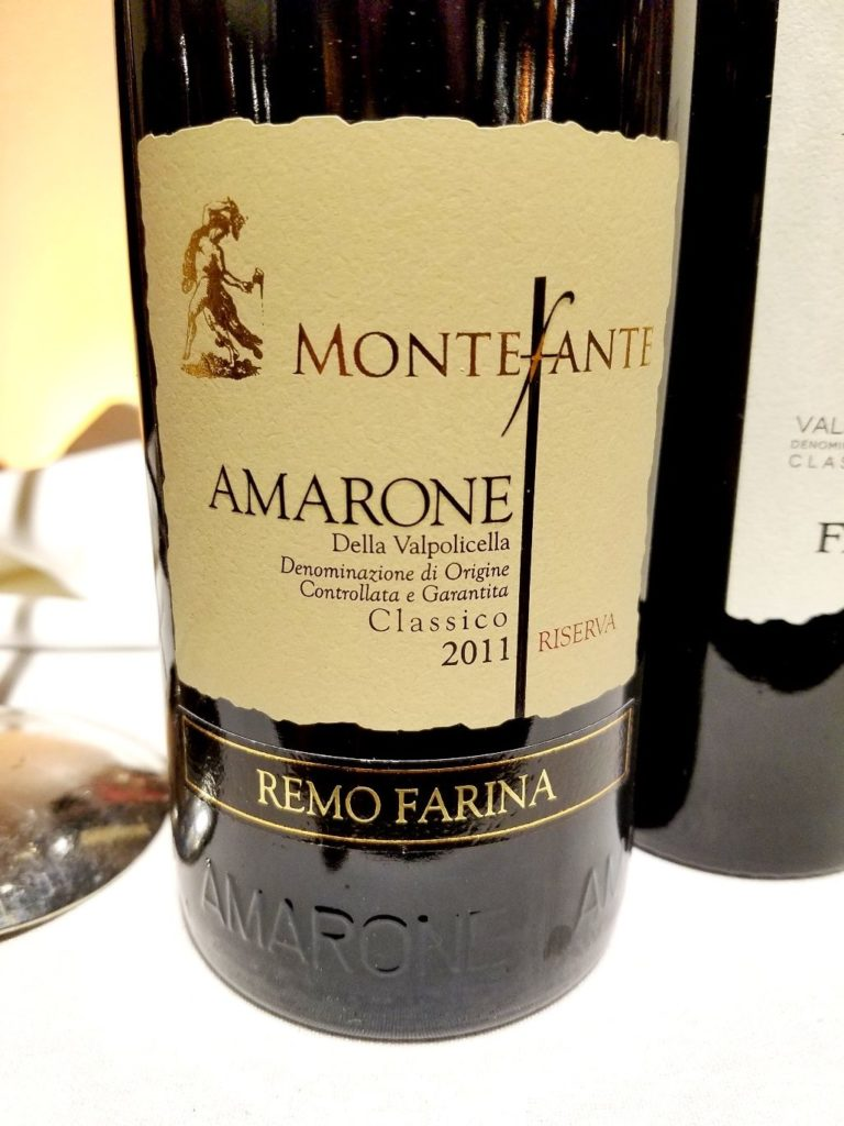 Remo Farina Amarone Della Valpolicella Classico Montefante Riserva 2011, James Suckling Great Wines of Italy New York 2020, Wine Casual