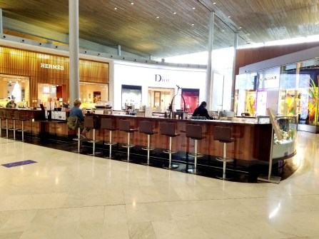 Lonely Champagne & Caviar bar at the Paris Charles de Gaulle airport.