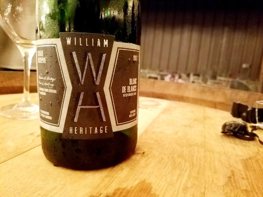 William Heritage, Estate Reserve Blanc de Blancs 2017, Outer Coastal Plain, New Jersey, Wine Casual