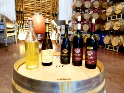 Cape May Winery & Vineyard library and current release wines.  Wine Casual