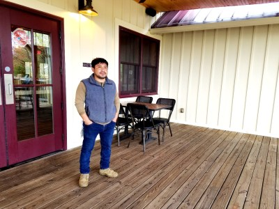 dit: Wine Casual, White Horse Winery's Winemaker, Seferino Coztojay appreciates that micro-climate in the vineyard that is 10° warmer than nearby areas.  Wine Casual