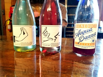 Beneduce Vineyards produces a lineup of Pet-Nats with humorous labels that mimic Italian hand gestures.  Wine Casual