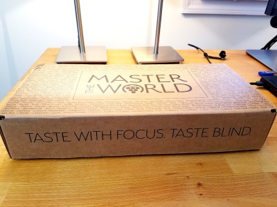Preparing to open my Master The World wine kit sampler.  Wine Casual