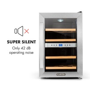 KLARSTEIN Reserva 12 Duo Stainless Steel Dual Zone Wine Cooler quiet