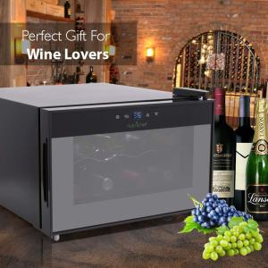 NutriChef PKTEWC806 8 Bottle Thermoelectric Red And White Wine Cooler-Chiller main