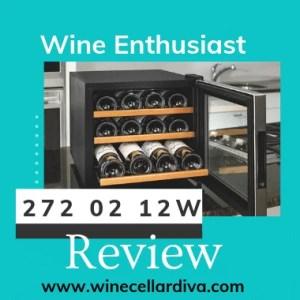 Wine Enthusiast 272 02 12W Silent 12 Bottle Wine Cooler