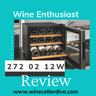 Wine Enthusiast 272 02 12W Silent 12 Bottle Wine Cooler