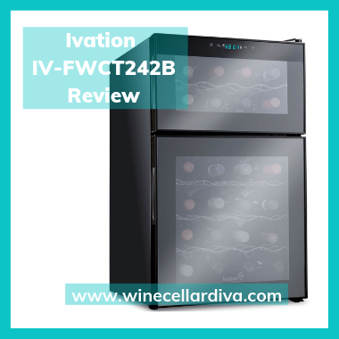 Ivation IV-FWCT242B 24 bottle Dual Zone thermoelecric Wine Cellar Review.
