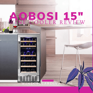 Aobosi 28 bottle wine cooler