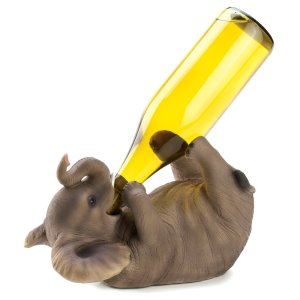Elephant Decorative Wine Bottle Holder Rack