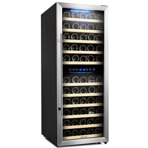 Kalamera Door Dual Zone 73 Bottle Stainless Steel Compressor Wine Cooler