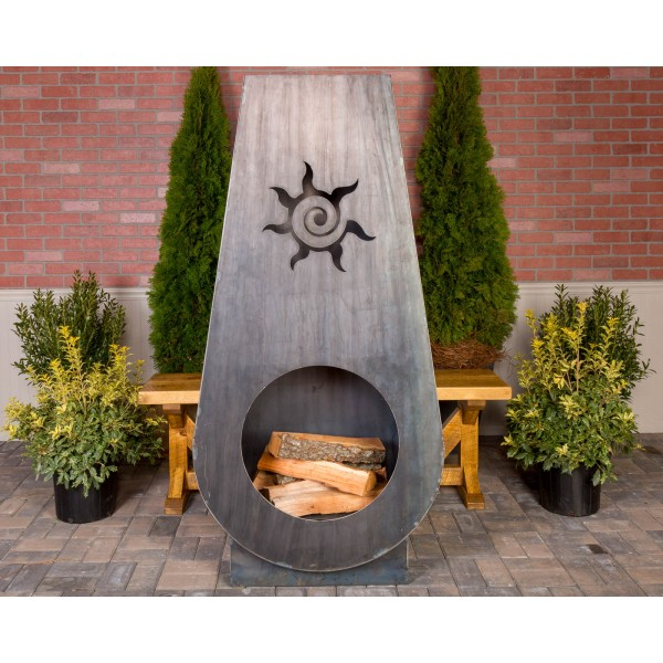 Suns Fire Steel Outdoor Ember Haus Wine Country Accents