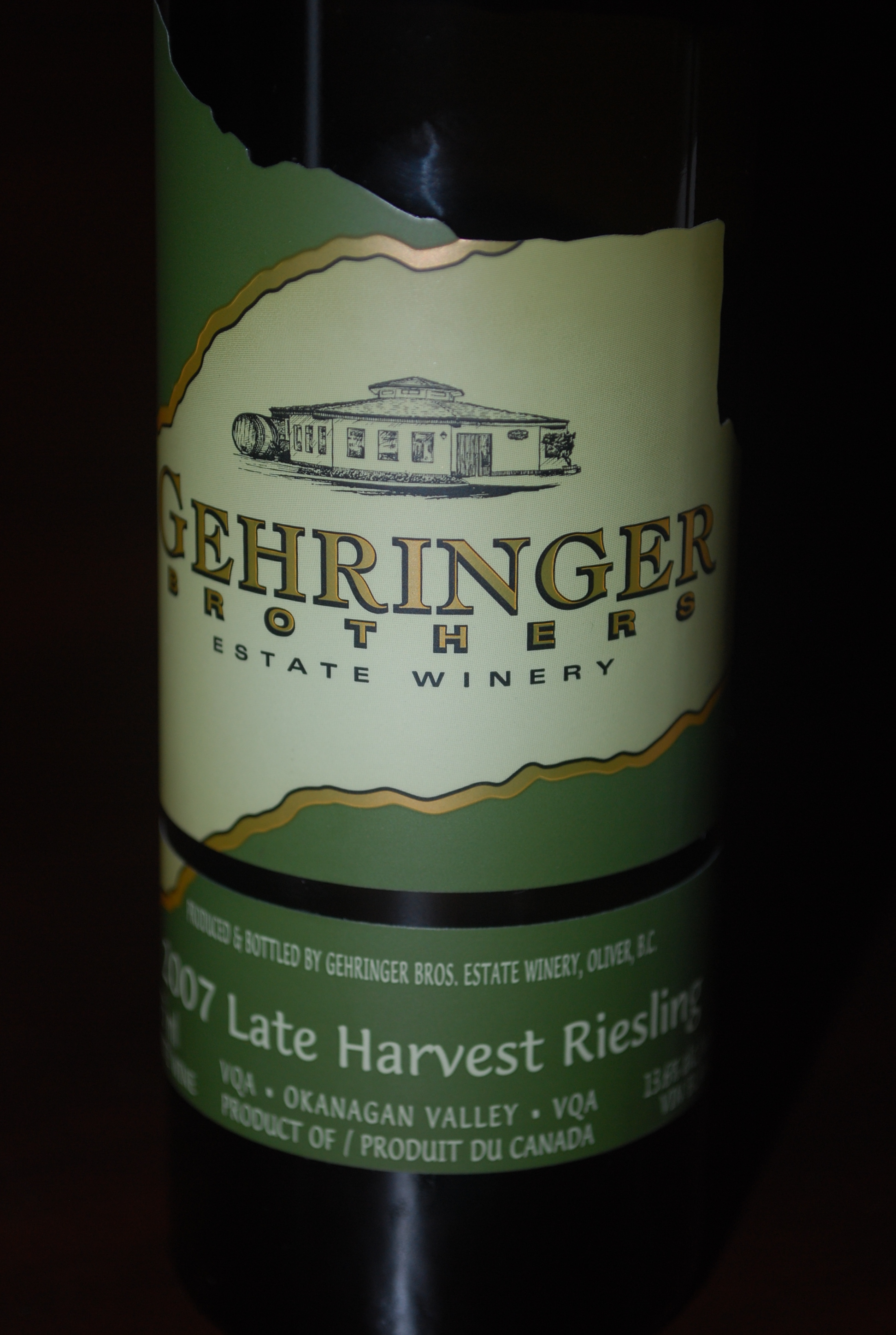 Gerhinger Brothers Late Harvest Riesling 2007