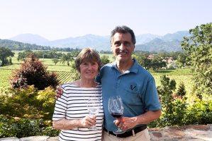 Janelle and Joe wine tasting