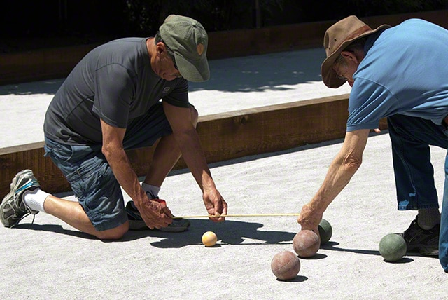 play bocce in wine country