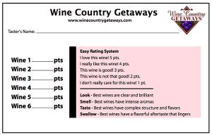 wine score card
