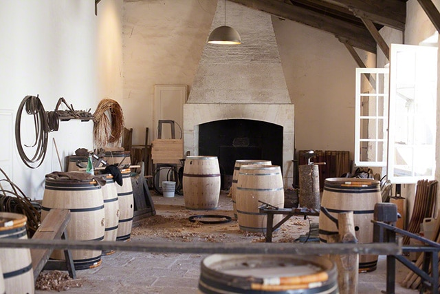 Cooperage at Chateau Margaux