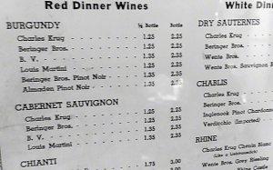 old wine list