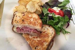 The grilled ham & cheese at Buffalo Chips