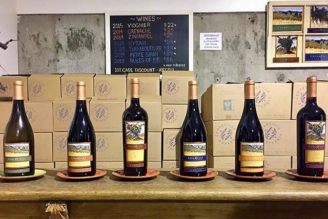 Cedarville Vineyards tasting room