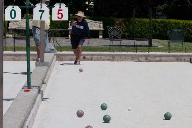 bocce in wine country