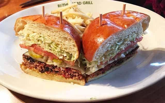 Rutherford Grill veggie burger