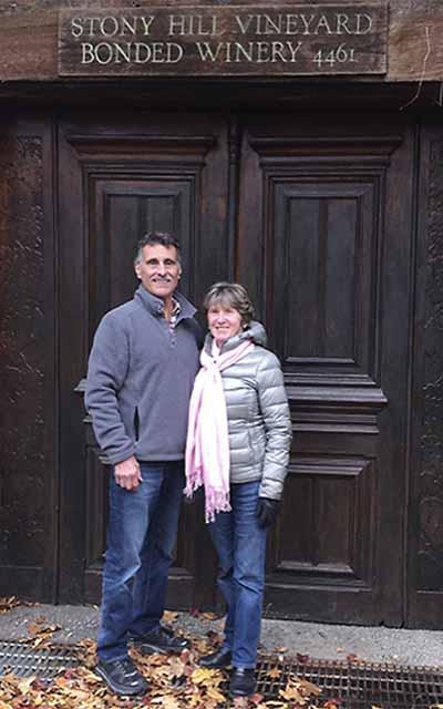 Joe and Janelle at Stony Hill Vineyard
