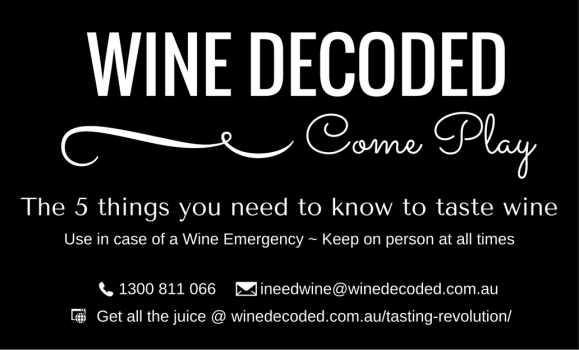 Wine Decoded Tasting Revolution Card Front