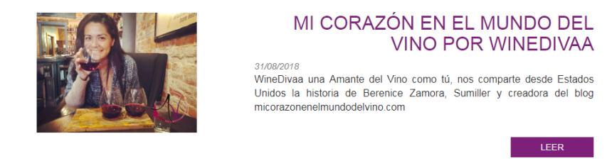 Entrevista a Bere en Amantes del Vino por WineDivaa