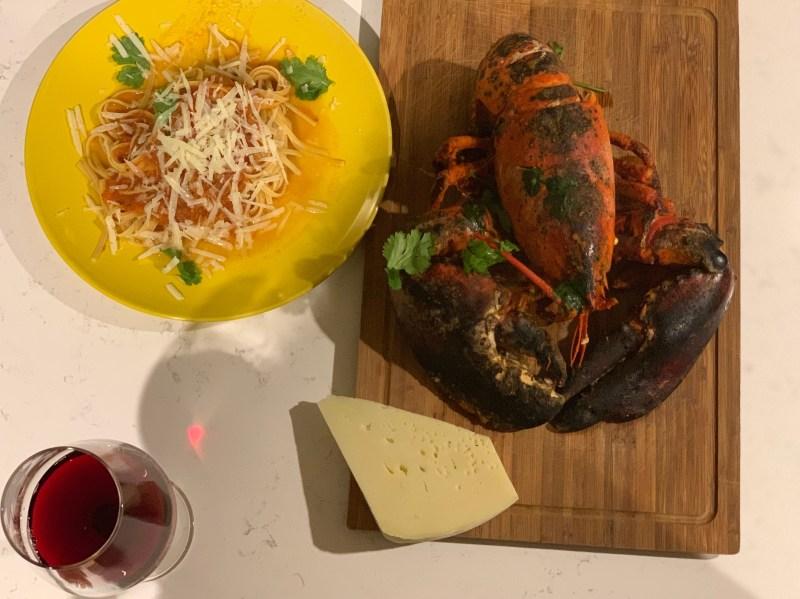 Lobster Pasta recipe by WineDivaa