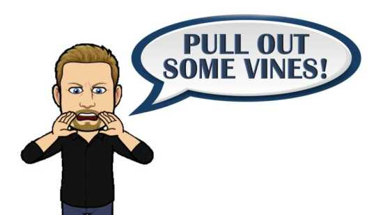 Jeff Bitter emoji urging grapes growers to pull out vines