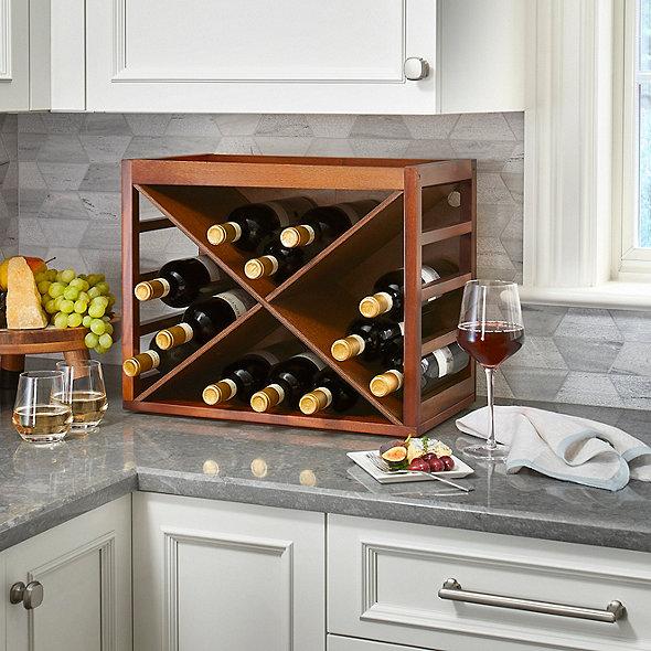wine rack cube pine 25 spaces barware