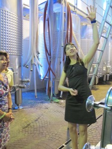 Francesca Vaira in the tank room of G. D. Vajra in Vergne, Italy.