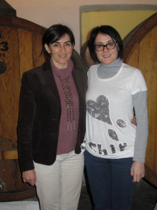 Ornella Correggia (left) and Sara Palma in the winery of Matteo Correggia, Canale, Italy