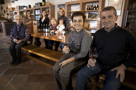 Four generations of the Grasso Family in the winery's tasting room.