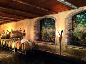 Barrel room at Deltetto in Canale