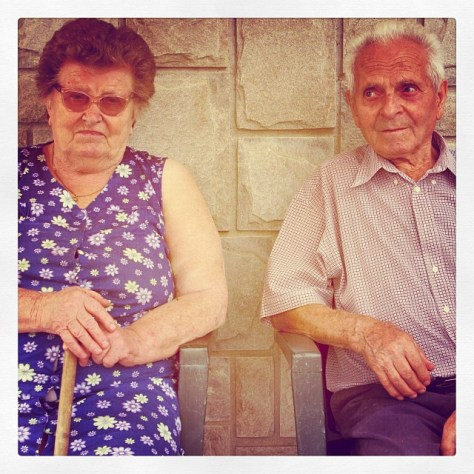 "Giulio Grasso's mother, Fiorentina, and his late father, Ernesto, known affectionately as ""Super Nonno."""