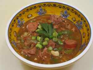 A bowl of gumbo is soothing on a cold winter day, but is a pleasure all year round.
