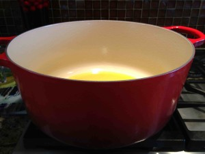 My 13.25 quart Le Creuset behemoth Dutch Oven is a workhorse in my kitchen.