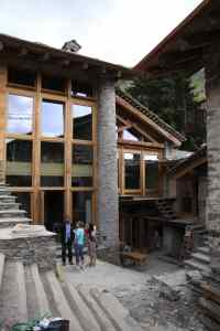 The fusion of old and new at Rifugio Valliera.