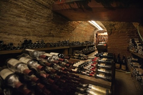 The cellar at Il Centro in Priocca d'Alba Italy is lovingly tended by father and son sommelier team Enrico and Giampiero Cordero.