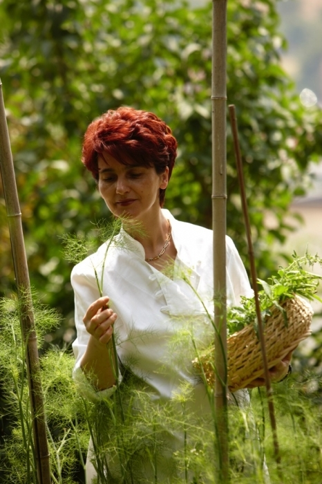 Chef Elide Cordero of Ristorante Il Centro is equally at home in nature and her kitchen.