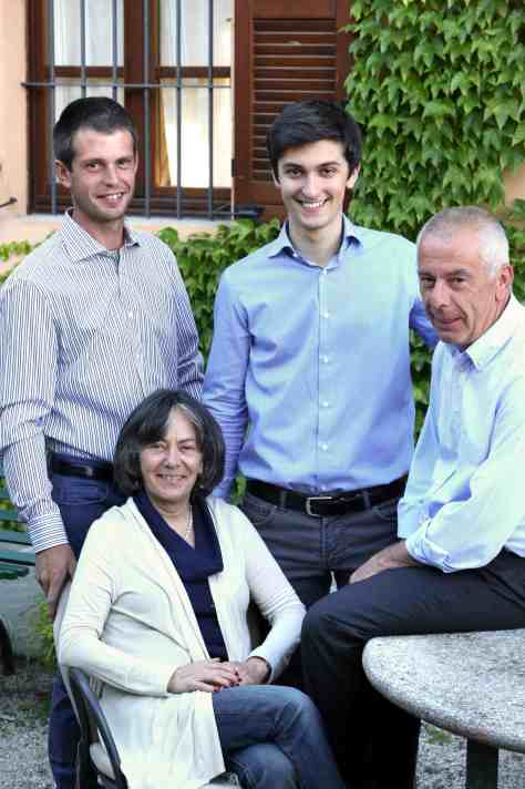 Giovanna, Italo with Davide (left) and Riccardo (center).